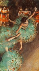 The Green Dancer, Edgar Degas, 1879.  Theyssen-Bornemisza Museum, Madrid, Spain.
