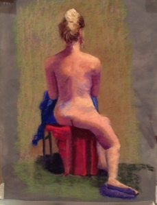 Figure painting from Diane Rappisi's IAPS workshop, pastel, 19